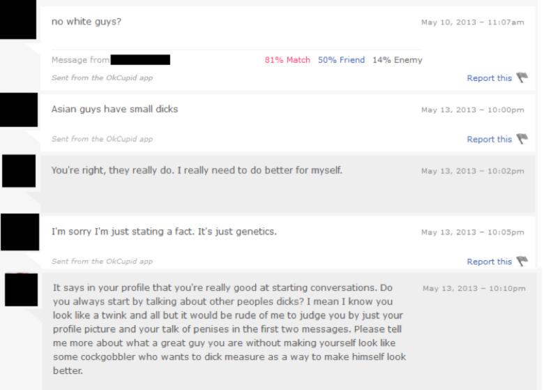 Online dating racist