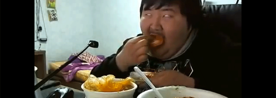 It's always good when your man looks like this when he's eating your food.