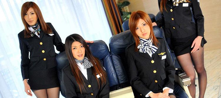 sex Asian flight attendant
