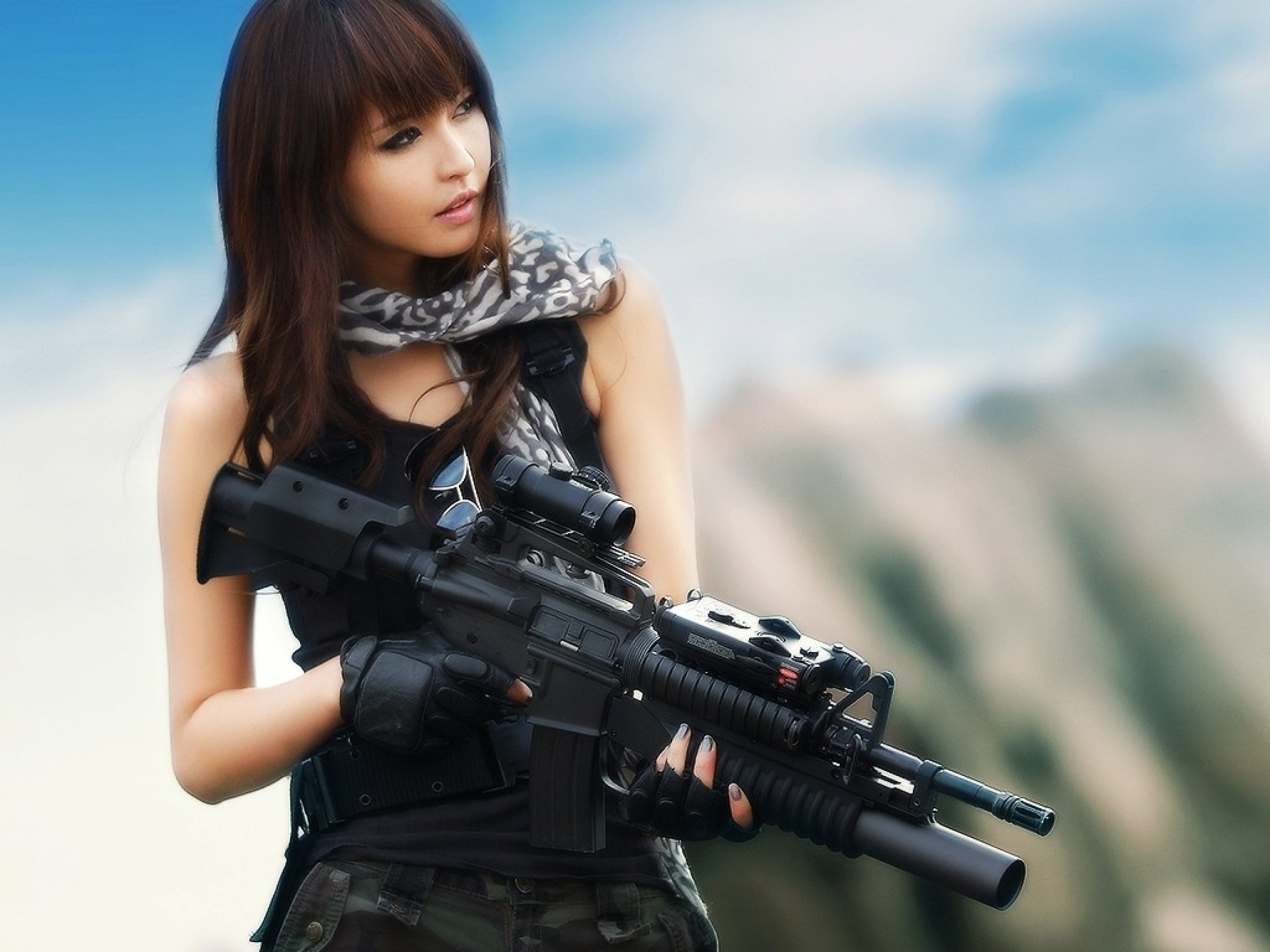 asians_girls_with_guns_m4a1_asian_girls_1024x768_wallpaper_Anime HD Wallpaper_2560x1920_www.wallpaperswa.com