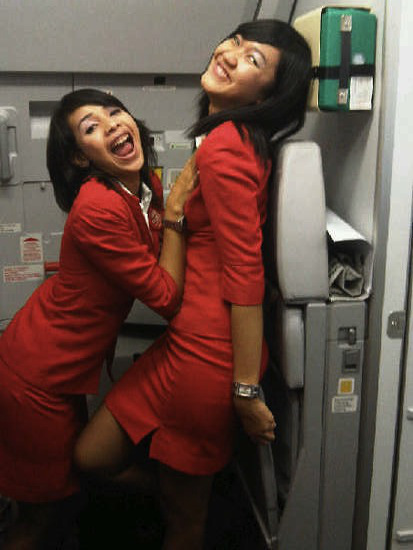 Fuck asian stewardess