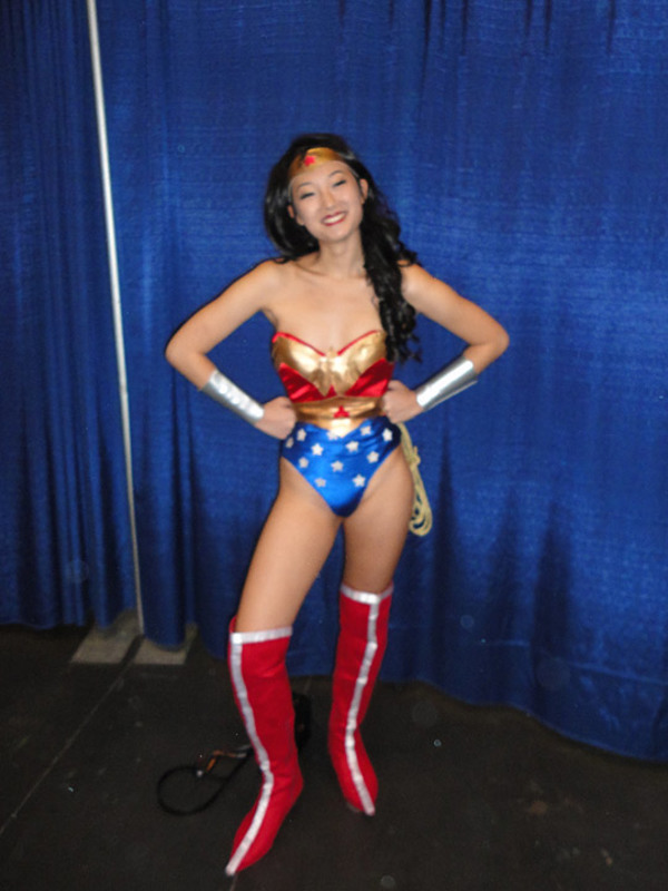 Asian wonder woman cosplay