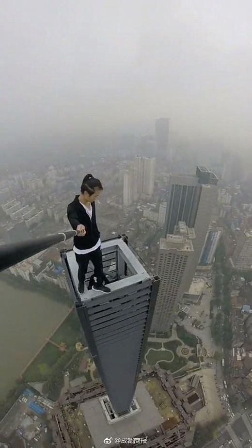 """Wu Yonging Fall >> Famous Chinese """"Rooftoper"""" Falls to His Death Trying to Earn Money to Marry His Girlfriend ..."""