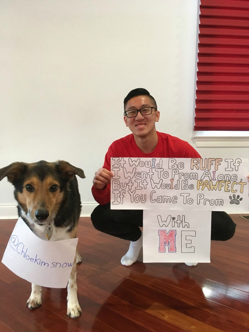 Lets Help A Brother Out Chloe Kim Say Yes To His Promposal Amped